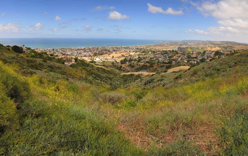 Opinião de San Clemente Califórnia imagem de stock