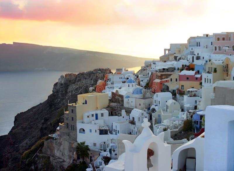 Opinião de Santorini imagens de stock