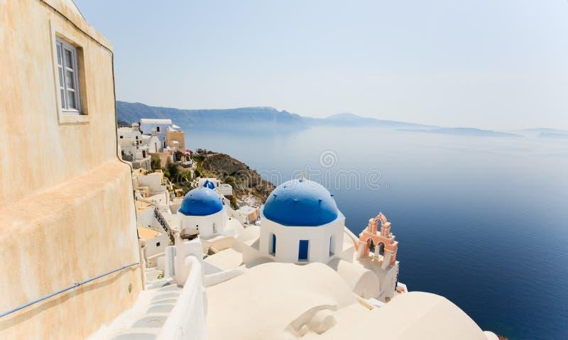 Opinião de Santorini fotos de stock