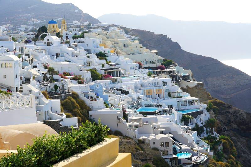 Opinião de Santorini de Imerovigli em setembro, Cyclades imagem de stock