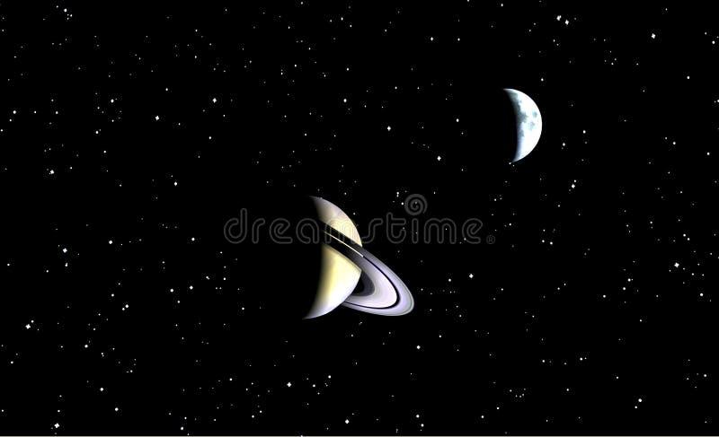 Opinião de Saturno ilustração stock