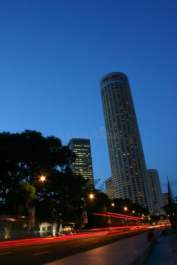 Opinião de Singapore foto de stock
