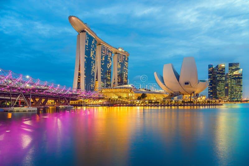 Opinião de Singapura de areias de Marina Bay imagens de stock