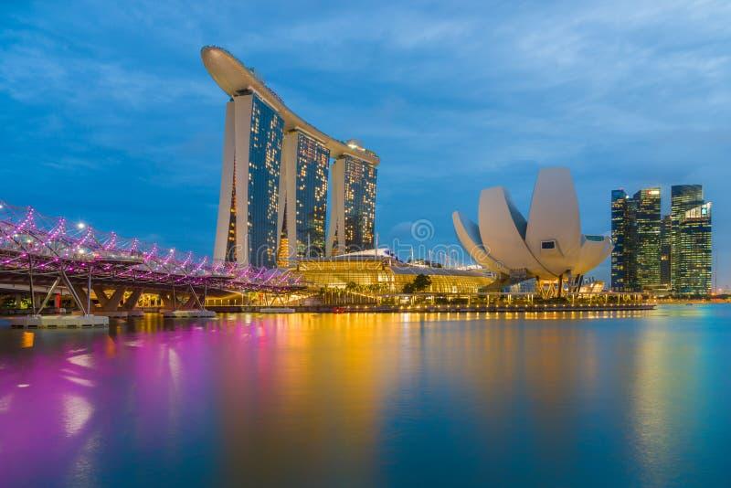 Opinião de Singapura de areias de Marina Bay fotos de stock