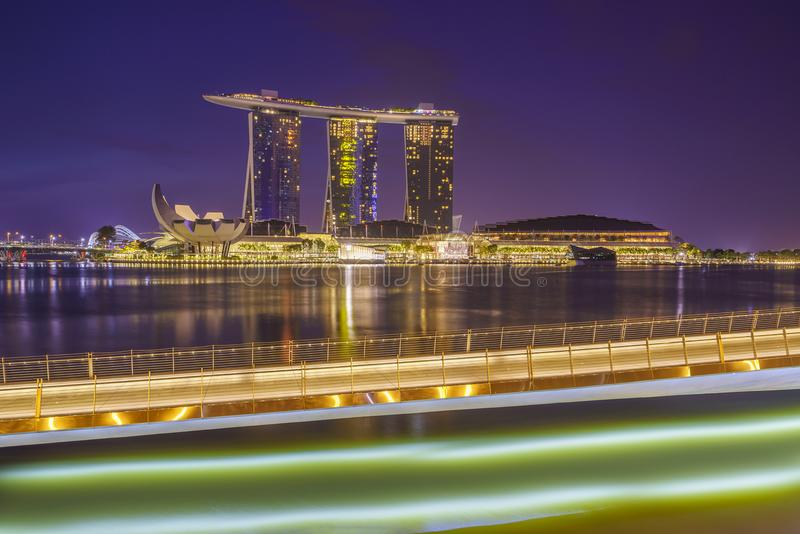 Opinião de Singapura de areias de Marina Bay foto de stock royalty free