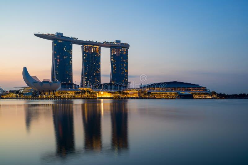 Opinião de Singapura de areias de Marina Bay imagem de stock
