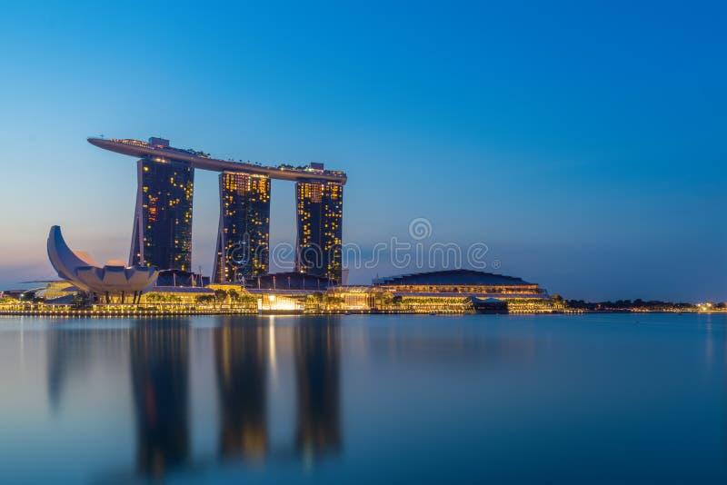 Opinião de Singapura de areias de Marina Bay fotos de stock royalty free