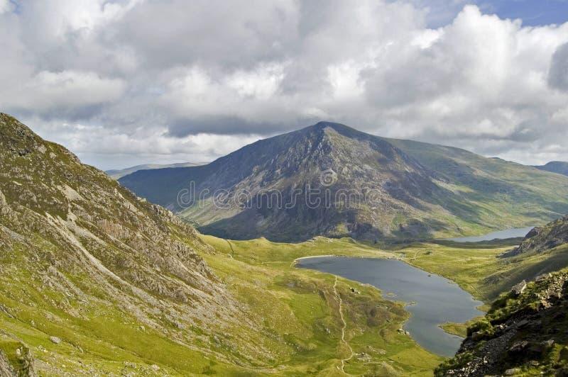 Opinião de Snowdonian imagem de stock