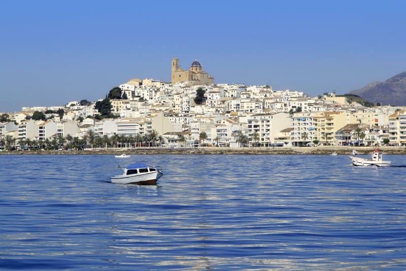 Opinião de Spain da província de Altea Alicante do mar azul imagens de stock royalty free