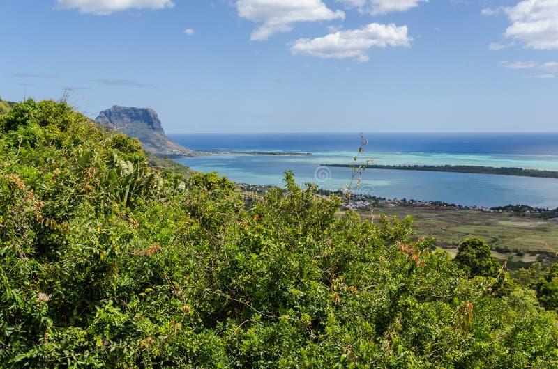 Opinião de Spectecular em Maurícias do sul imagem de stock
