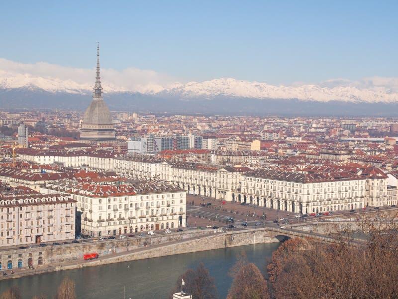 Opinião de Turin imagem de stock