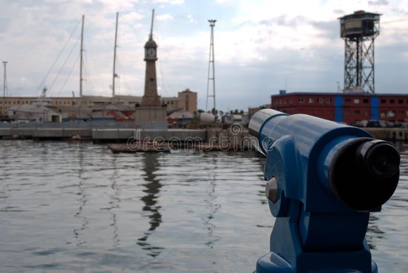 Opinião de Vell do porto de Barcelona imagens de stock
