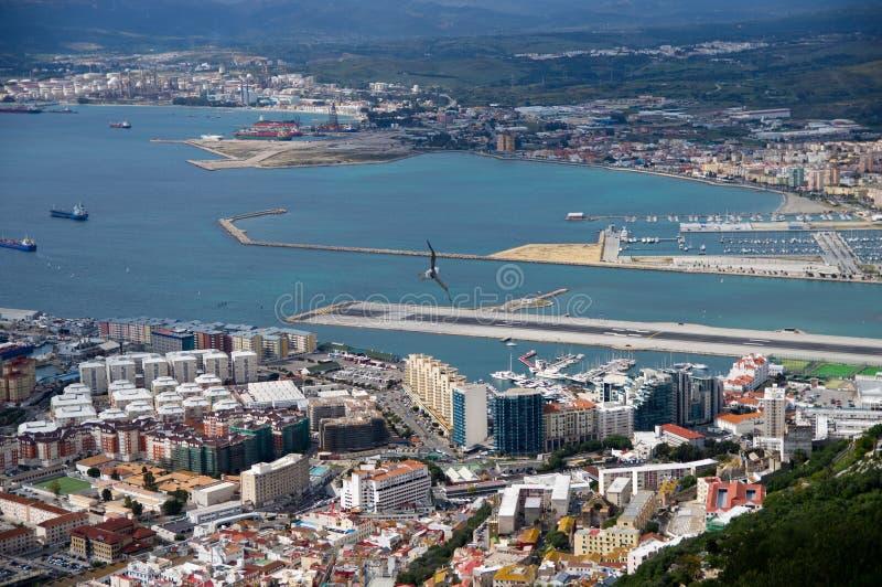 Opinião de Yhe de Gibraltar fotos de stock royalty free