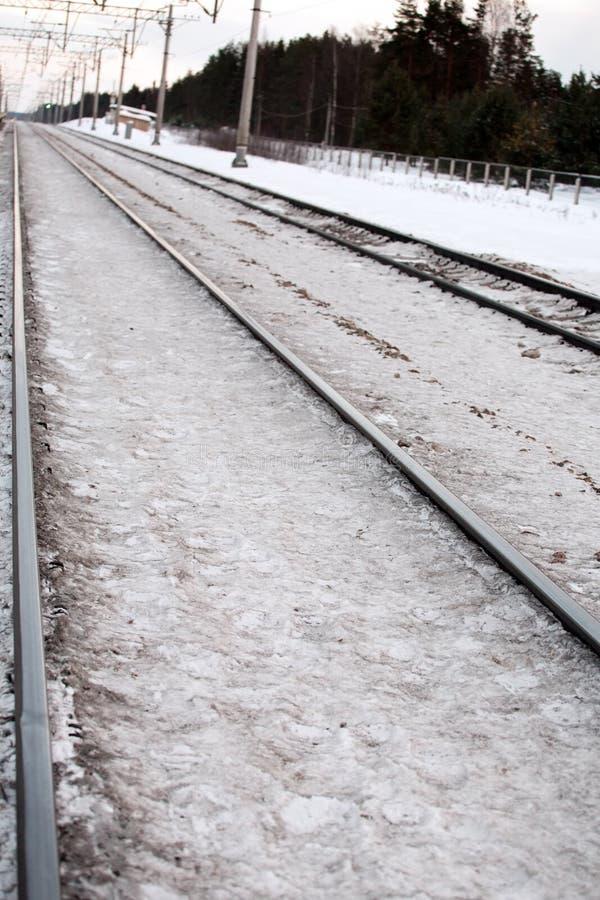 Download Estrada de ferro foto de stock. Imagem de closeup, neve - 29833896