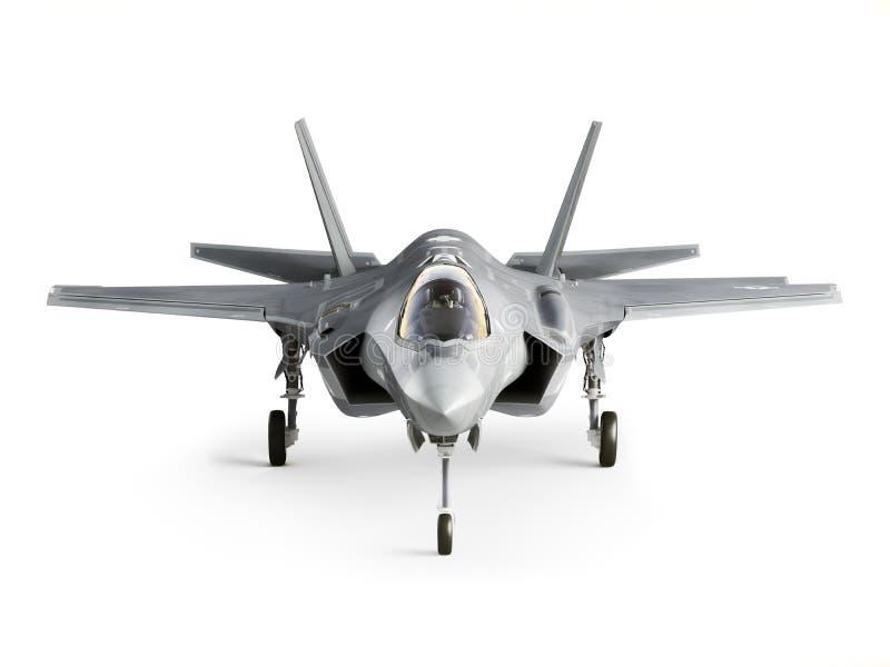 Opinião dianteira de aviões de greve F35 ilustração do vetor