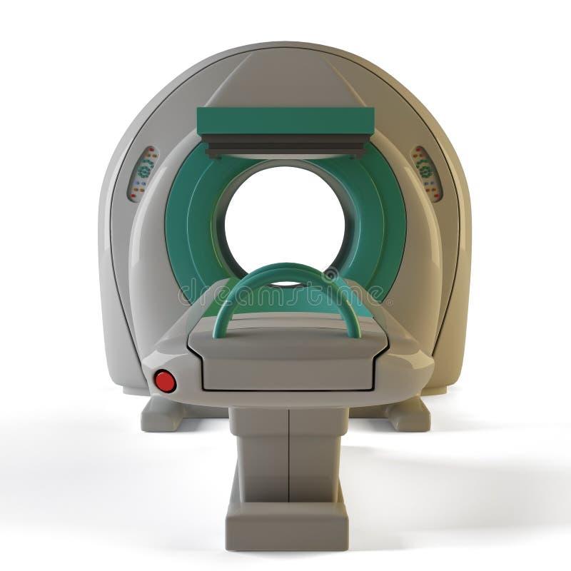 Opinião dianteira de MRI ilustração royalty free