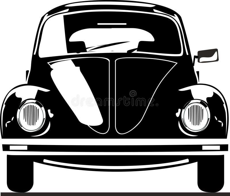 Opinião dianteira do besouro da VW ilustração do vetor