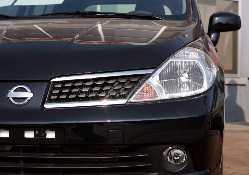 Opinião dianteira do close-up do carro fotos de stock