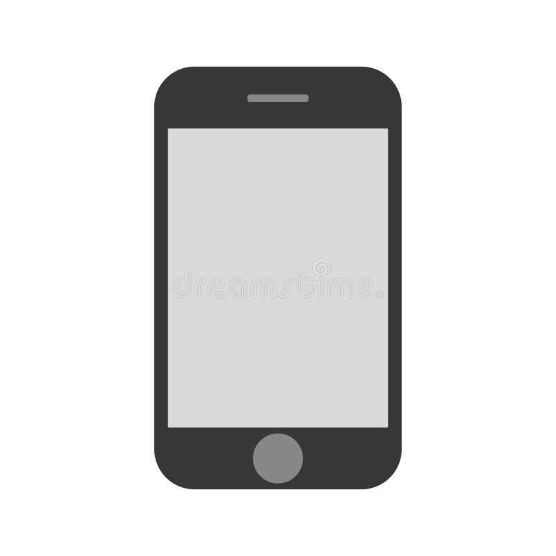 Opinião dianteira do smartphone do telefone celular da cor do cinza com claro - tela vazia cinzenta Ícone eps10 do vetor do telef ilustração do vetor