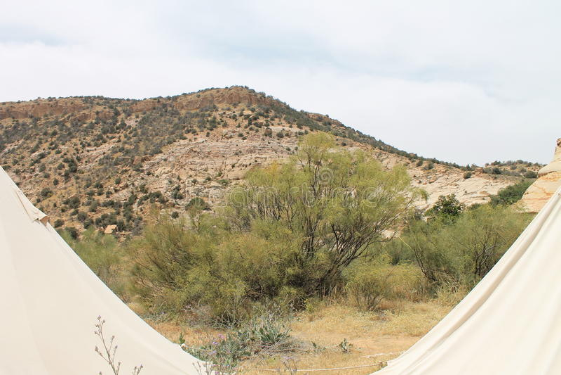 Opinião do acampamento imagem de stock