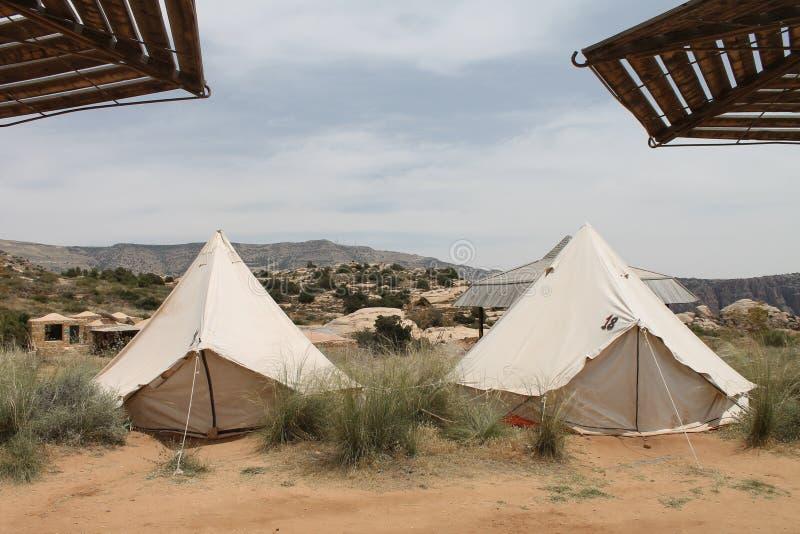 Opinião do acampamento fotos de stock royalty free
