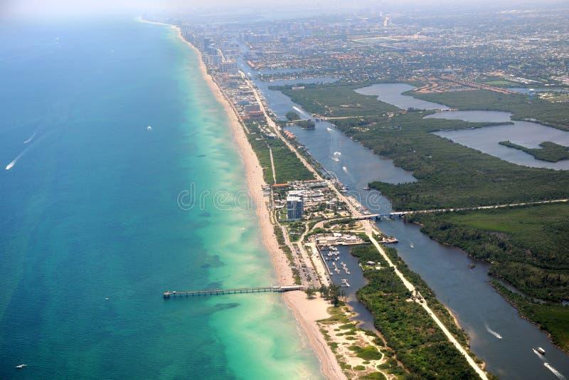 Opinião do ar de Miami Florida imagens de stock