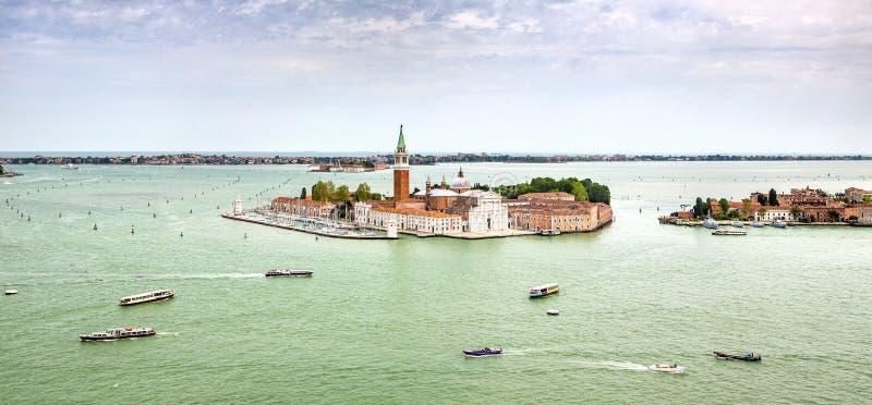 Opinião do ar de Venecia fotografia de stock royalty free