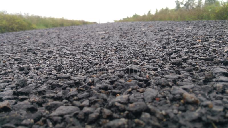 Opinião do asfalto fotografia de stock royalty free