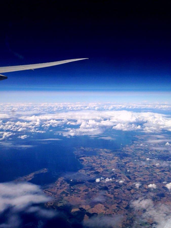 Opinião do avião da terra fotografia de stock