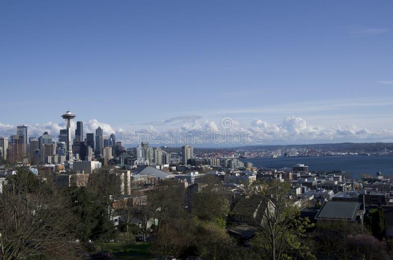 Opinião do céu de Seattle foto de stock royalty free