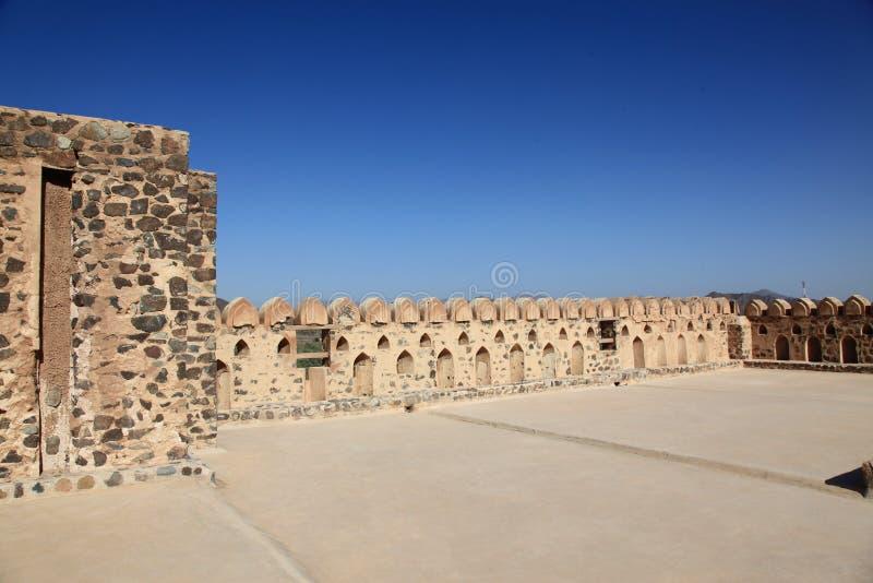 Opinião do céu do castelo de Jabreen fotografia de stock