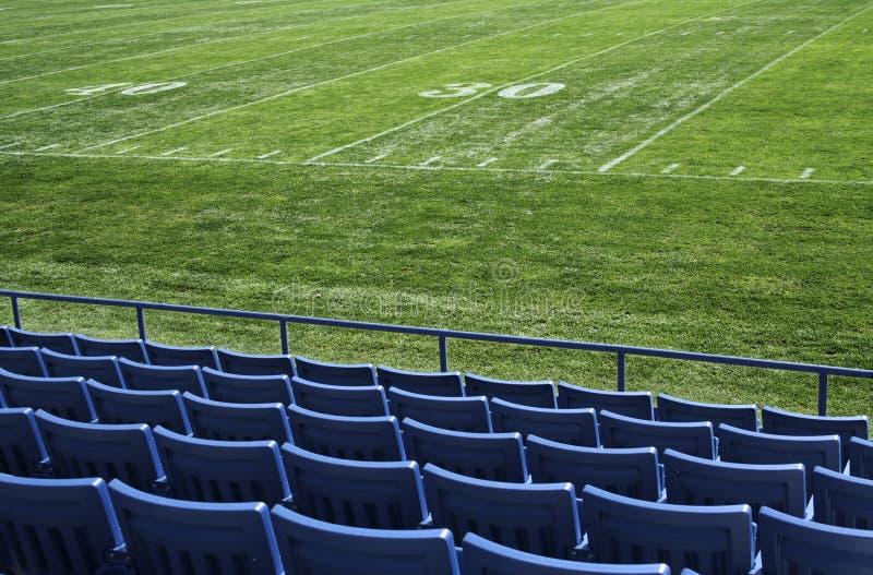 Opinião do campo de Footbal imagens de stock