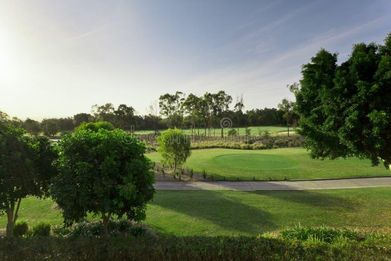 Opinião Do Campo De Golfe Fotos de Stock Royalty Free