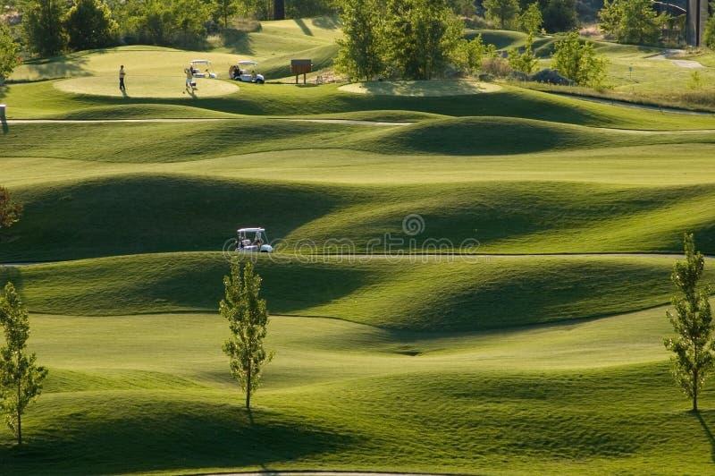 Opinião do campo de golfe fotografia de stock royalty free