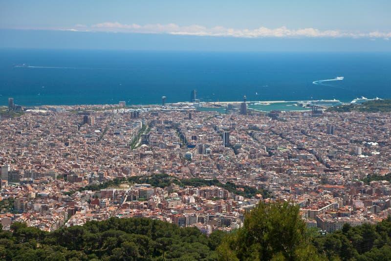 opinião do cartão de Barcelona do monte de Tibidabo imagem de stock royalty free