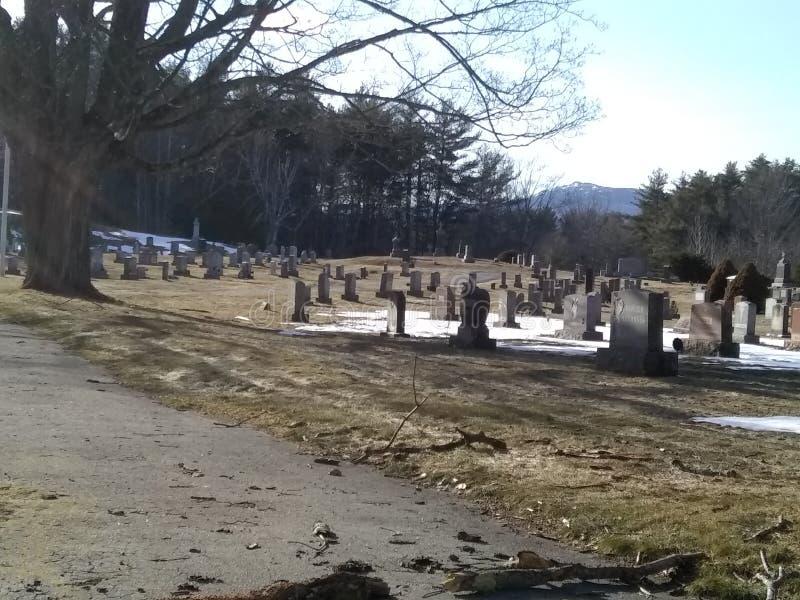 Opinião do cemitério fotos de stock