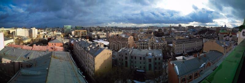 Opinião do centro da cidade de Moscou fotos de stock