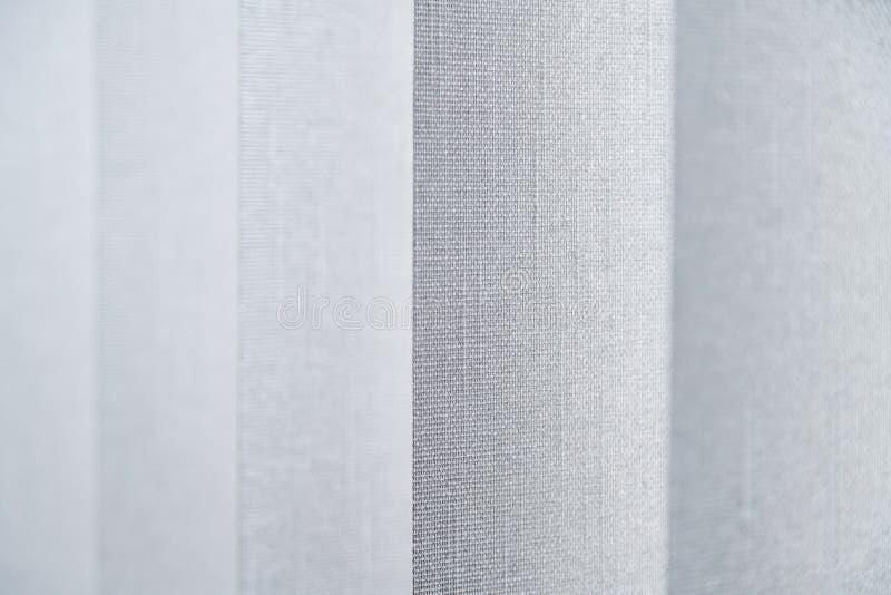 Opinião do close-up da cortina da tela feita da tela densa no escritório dos corpus Fundos e papéis de parede abstratos Textured fotografia de stock