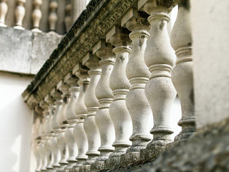 Opinião do close-up de Perspecive da balaustrada italiana de Palladian do estilo imagens de stock