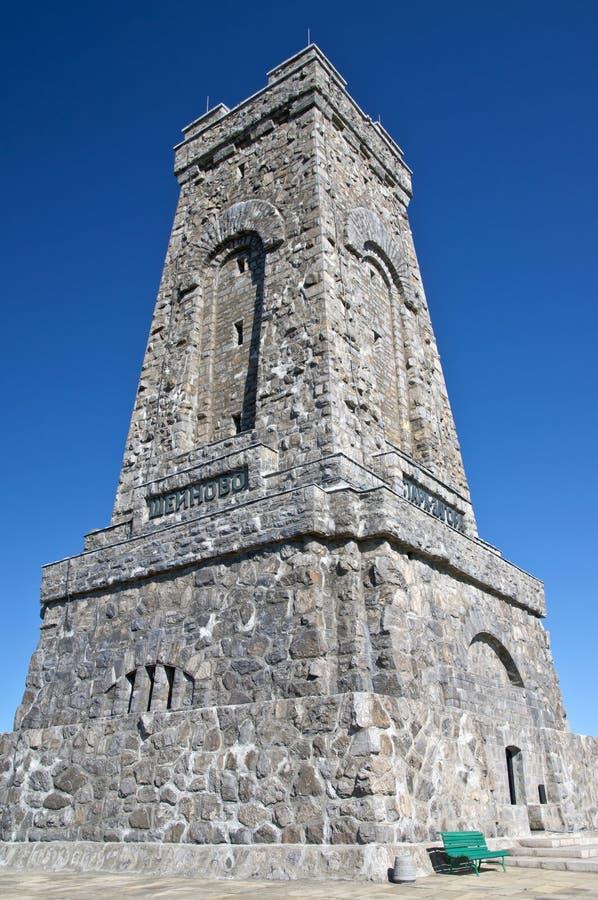 Opinião do Close-up do memorial de Shipka, Bulgária imagens de stock royalty free