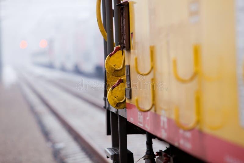 Opinião do Close-up do railcar fotos de stock royalty free