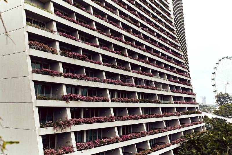 Opinião do close up Marina Bay Sands Hotel imagens de stock royalty free