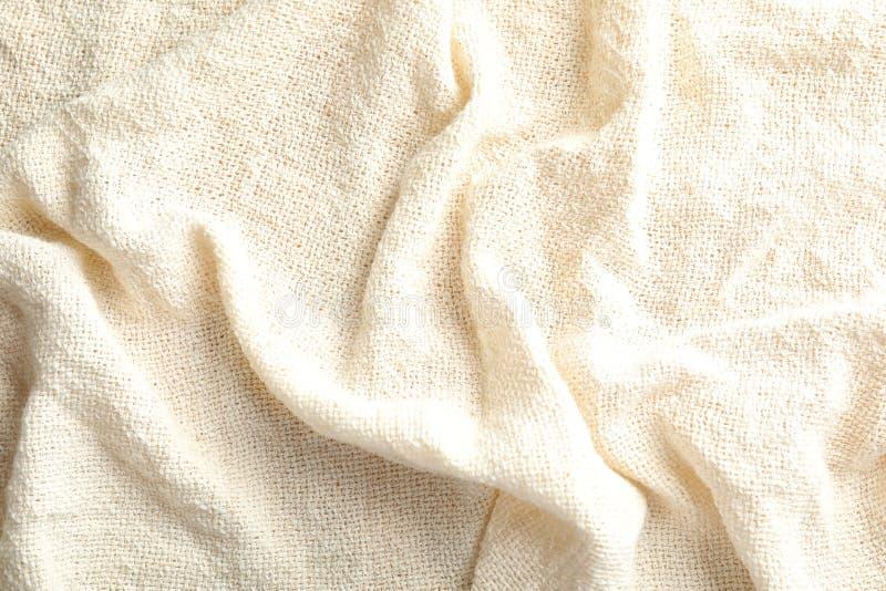 Opinião do close up do pano natural claro do cânhamo fotos de stock royalty free