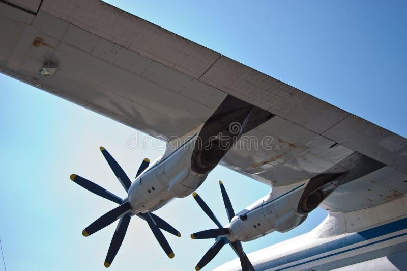 Opinião do detalhe de uma asa AN-22 imagem de stock