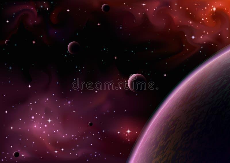 Opinião do espaço ilustração do vetor