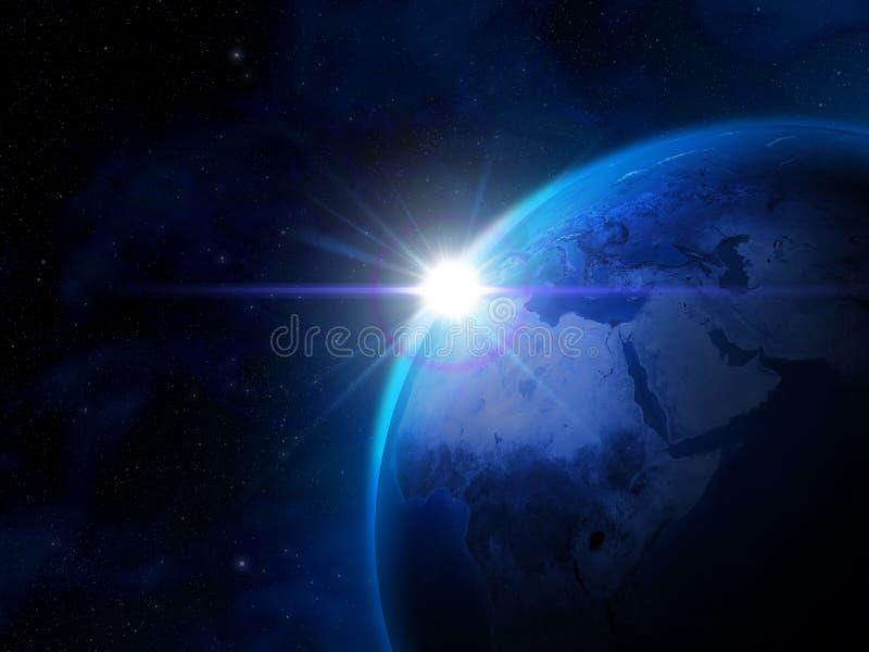 Opinião do espaço da terra do planeta ilustração do vetor