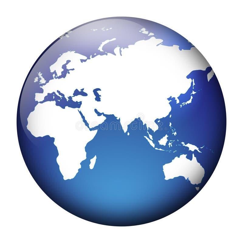 Opinião do globo ilustração stock