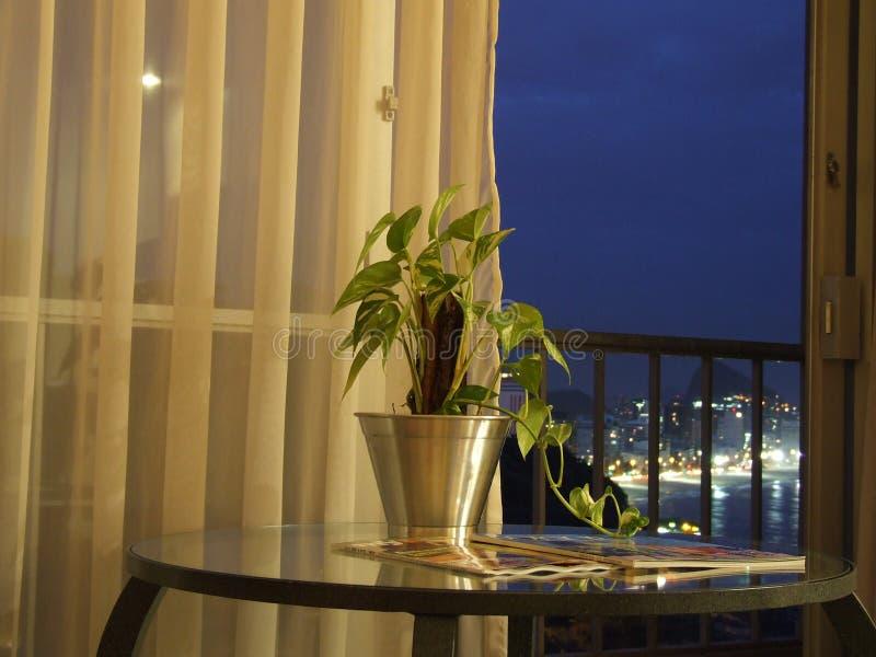 Opinião do hotel fotografia de stock
