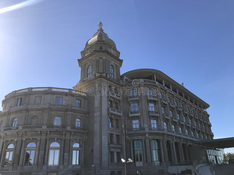 Opinião do hotel imagens de stock royalty free