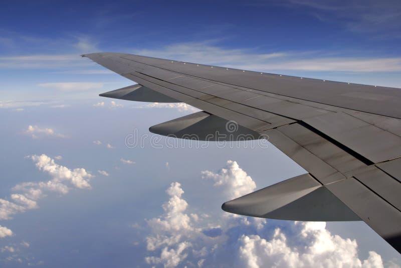 Opinião do indicador do avião imagens de stock royalty free